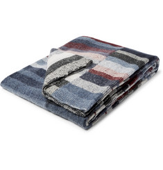 The Elder Statesman Super Soft Striped Cashmere Blanket