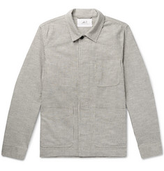 Mr P. - Striped Slub Cotton-Blend Chore Jacket