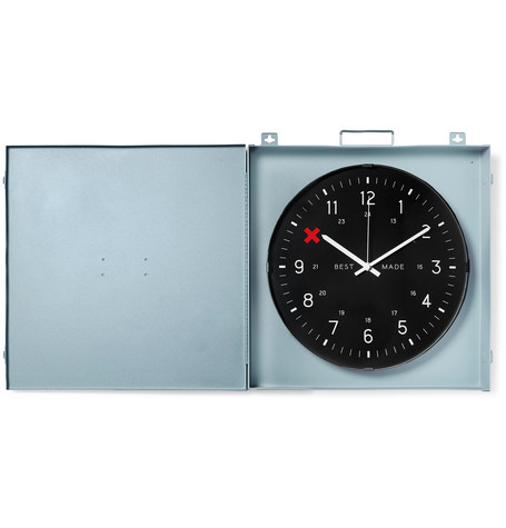 BEST MADE COMPANY Workshop Metal Clock in Gray