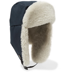 Best Made Company - RCMP Cotton-Ventile and Shearling Trapper Hat a80a9461721