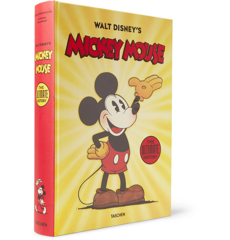 TASCHEN Walt Disney'S Mickey Mouse: The Ultimate History Hardcover Book in Yellow