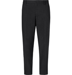 Mr P. Cropped Pleated Stretch Wool and Cotton-Blend Trousers