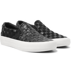 eea95af6f12 Vans - + Engineered Garments OG Classic LX Checkerboard Leather and Suede  Slip-On Sneakers