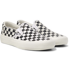 Vans + Engineered Garments OG Classic LX Checkerboard Leather and Suede Slip-On Sneakers