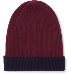 Brunello Cucinelli Reversible Ribbed Cashmere Beanie