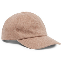 Brunello Cucinelli - Leather-Trimmed Cashmere Baseball Cap