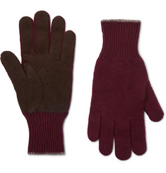 Brunello Cucinelli - Wool and Suede Gloves