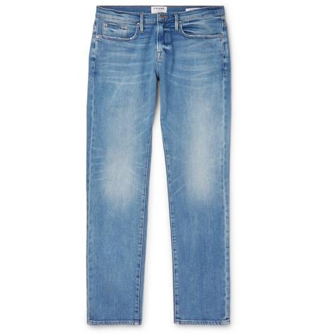 Frame Jeans L'HOMME SLIM-FIT DENIM JEANS - BLUE