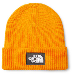 The North Face Logo-Appliquéd Ribbed-Knit Beanie