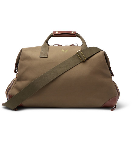 cdada25a7d76 Bennett Winch - Weekender Leather-Trimmed Cotton-Canvas Holdall