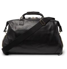 Weekender Leather Holdall - Black