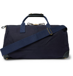Bennett Winch - Commuter Leather-Trimmed Cotton-Twill Holdall