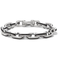 David Yurman - Sterling Silver Diamond Bracelet