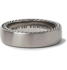 Titanium And Sterling Silver Ring - Silver