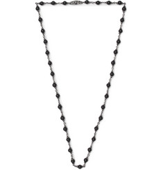 David Yurman - Blackened Sterling Silver Onyx Necklace
