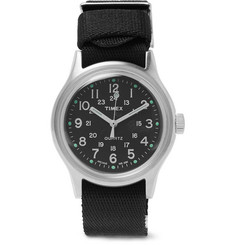 Timex MK1 Stainless Steel and Nylon-Webbing Watch