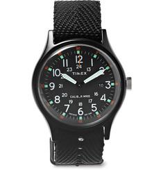 Mk1 Aluminium And Nylon-webbing Watch - Black