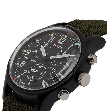 Mk1 Chronograph Aluminium And Nylon Webbing Watch by Timex