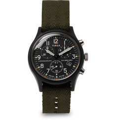 Timex MK1 Chronograph Aluminium and Nylon-Webbing Watch