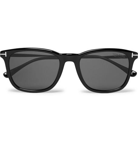TOM FORD | TOM FORD - Square-frame Acetate Polarised Sunglasses - Black | Goxip