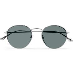 c3c625e56b9 TOM FORD - Round-Frame Silver-Tone Sunglasses