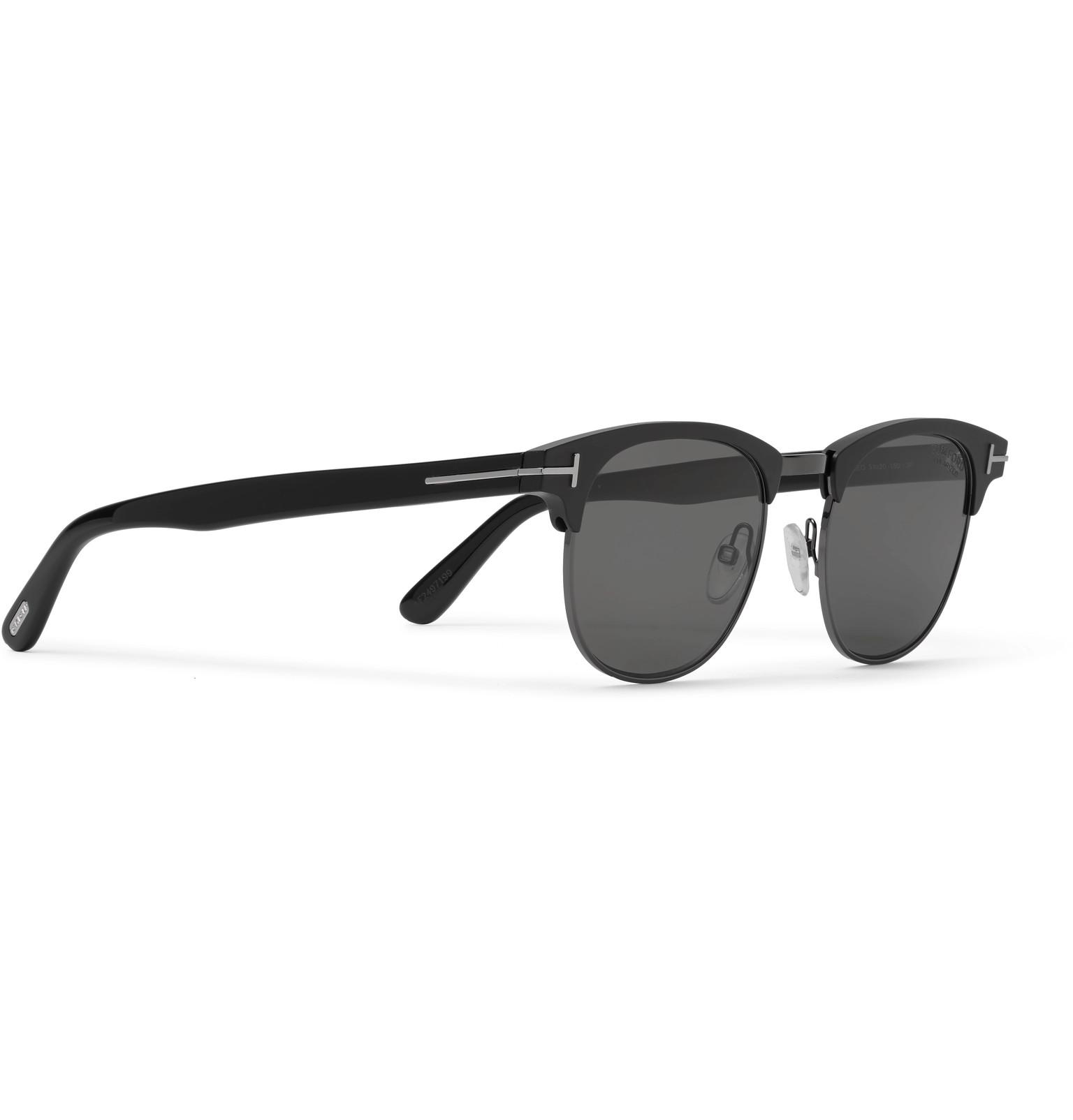 b55c2cd819f TOM FORDLaurent D-Frame Acetate and Gunmetal-Tone Polarised Sunglasses