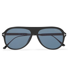 TOM FORD Nicholai Aviator-Style Acetate Polarised Sunglasses