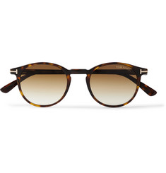 TOM FORD - Round-Frame Tortoiseshell Acetate Sunglasses