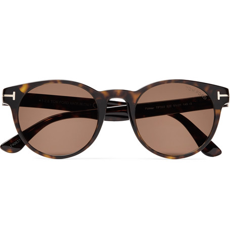 Palmer Round Frame Tortoiseshell Acetate Sunglasses by Tom Ford