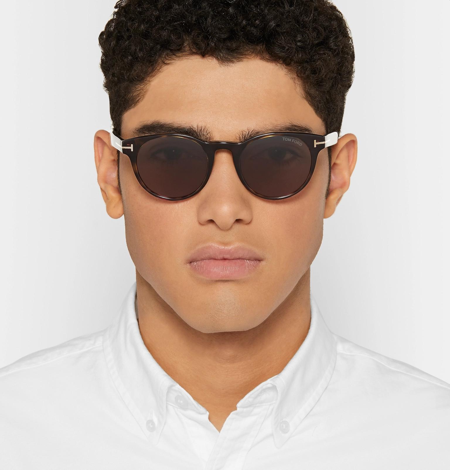 d431d24e5c1e6 TOM FORD - Palmer Round-Frame Tortoiseshell Acetate Sunglasses