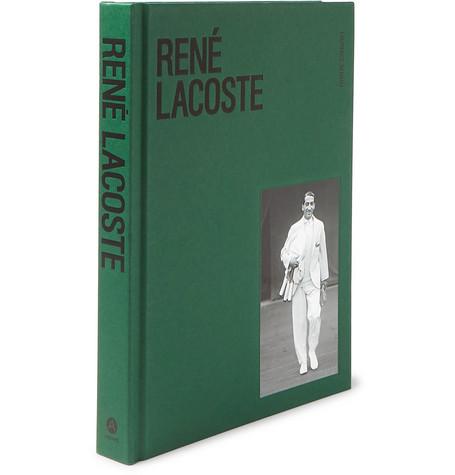ABRAMS René Lacoste Hardcover Book in Green