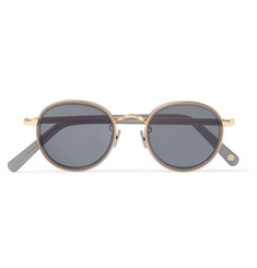 Cubitts Gifford Round-Frame Acetate and Gold-Tone Sunglasses