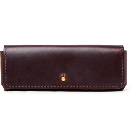 Cubitts Leather Glasses Case in Burgundy