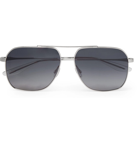 Aeronaut Aviator Style Silver Tone Sunglasses by Barton Perreira