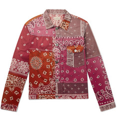 KAPITAL Patchwork Bandana-Print Cotton-Blend Jacket