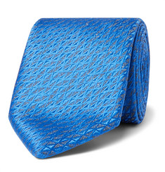 Charvet 7.5cm Silk and Linen-Blend Jacquard Tie