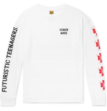 ad3340eb9 Human Made - Logo-Print Cotton-Jersey T-Shirt