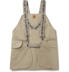 Human Made Logo-Print Cotton-Canvas Cargo Gilet