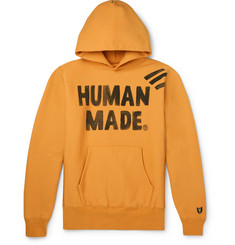 Human Made Logo-Print Fleece-Back Cotton-Jersey Hoodie