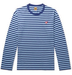 Human Made Logo-Appliquéd Striped Cotton-Jersey T-Shirt