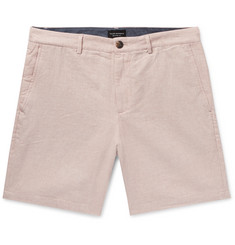 Club Monaco Baxter Slim-Fit Mélange Linen and Cotton-Blend Chambray Shorts