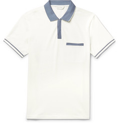 Club Monaco Contrast-Trimmed Stretch-Cotton Piqué Polo Shirt