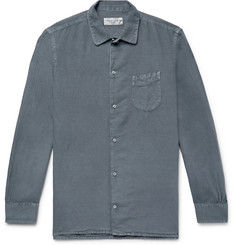 Officine Generale Slim-Fit Pigment-Dyed Cotton and Linen-Blend Shirt