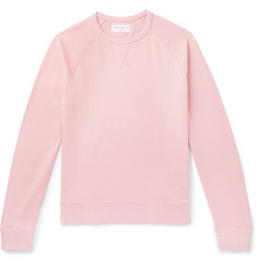 Officine Generale Garment-Dyed Cotton-Terry Sweatshirt