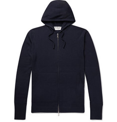 Officine Generale Virgin Wool Zip-Up Hoodie
