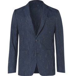 Officine Generale - Navy Slim-Fit Unstructured Pinstriped Woven Suit Jacket