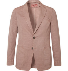 Officine Generale Light-Pink Unstructured Cotton and Linen-Blend Blazer