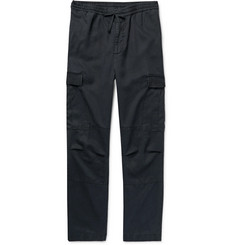 Officine Generale Tapered Lyocell Drawstring Cargo Trousers