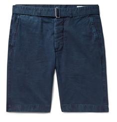 Officine Generale Julian Slim-Fit Indigo-Dyed Cotton Shorts