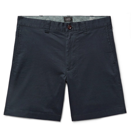 Slim Fit Cotton Blend Twill Shorts by J.Crew